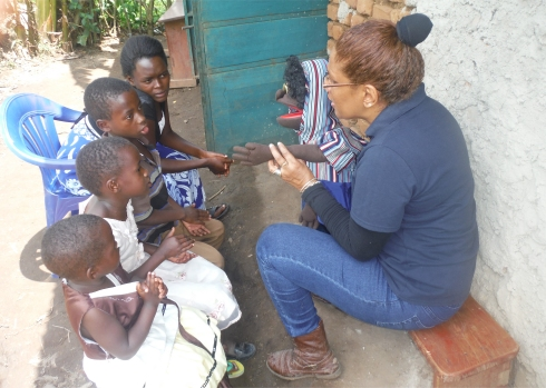 Lisa in Africa sharing the Good News in Children's Evangelism