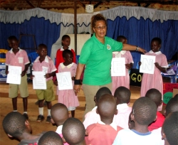 Lisa was able to share the Good News with the children from the Springs of Hope Orphanage.