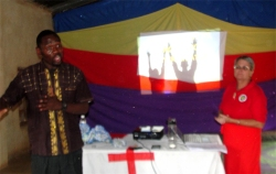 Here we introduced the Jesus sent our 70 two by two prayer assignment to 40 Pastors who attended the Pastor's Seminar.