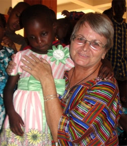 How wonderful to be able to pray with Charity at church on our last Sunday in Africa.