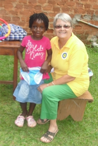Hope Child Care Centre children receive their gift from Barbados