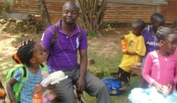 Thanks to Pastor Abraham who provides the father influence within the child care centre.