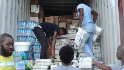 Bajan Pure donated a crate to United Caribbean Trust Hurricane Irma relief aid to Antigua and Barbuda