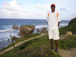 Brother Graham from Dr Creflo Dollar's World Changers Ministry visits Barbados  seen here at Bathsheba