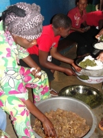Thanks to generous donations from Barbados we were able to feed all of these women for three days as they were taught and later delivered.