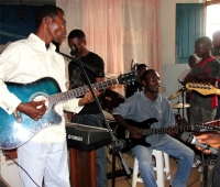 The music was great and Pastor Abraham who is also a gifted musician was able to participate,