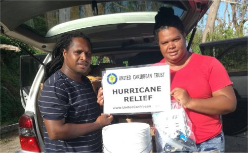 United Caribbean Trust Mission trip to help survivors of Hurricane Maria in Dominica with Sawyer filtered clean water as fears of an increase in cholera cases grow