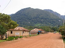 Ghana's highest point, seen here is Mount Afadjato, seen here from the village of Liati Wote