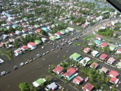 "Photo compliments of the  Guyana Citizens"" Initiative for Flood Relief,(GCIFR)"