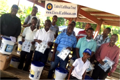 Haiti Mission trip St Marc water filter distribution to help survivors of Hurricane Matthew in Haiti with Sawyer filtered clean water as fears of an increase in cholera cases grow