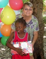 Ebernezer Orphanage  children receiving their Make Jesus Smile shoebox from  Jenny Tryhane