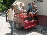 Down in Les Cayes the 'Chariot' was loaded up as we went to bless the children at a local orphanage.