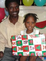 The team visited Foyer des Enfants de la Providence to distribute the Make Jesus Smile shoeboxes.