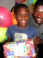 Make Jesus Smile shoebox at World Missionary Evangelism church