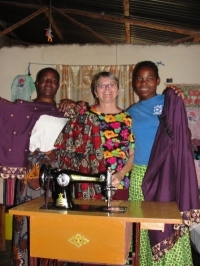 Seen here Jenny in Africa with the UCT Women's Empowerment Programme.