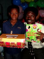 Torbeck Wesleyan church children receive their Make Jesus Smile shoeboxes