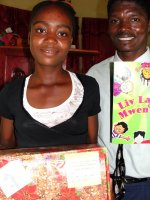 The children from Church of God Bois Landry had a wonderful time receiving their Make Jesus Smile shoeboxes.