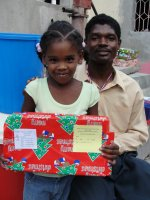 Seen here another one of your boxes being distributed at a Church of God school in Les Cayes.