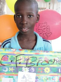 Click to view the first YWAM Make Jesus Smile shoebox distribution.