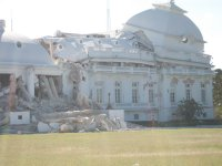 Many notable landmark buildings were significantly damaged or destroyed, including the Presidential Palace,