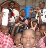 Thanks to Kids' EE that donated this Sawyer Water Filter Community Unit to the Bethesda school.