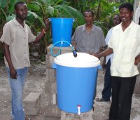 The well ministry took off in Les Cayes as we were able to set up the Sawyer Water Filter Community Unit right next to the well
