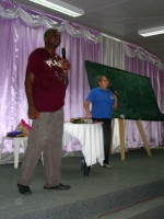 Jenny was invited by Apostle Iwan Oran to being KIMI into Suriname and French Guyana in January 2013