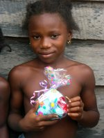 This is not the first Mission Trip that Kim has taken the Underwear packs, seen here her last mission trip to Suriname.