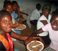Praise be to God that HaitiOne was able to assist us with some food