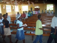 Over 250 children heard the Salvation message and were taught how to shair their Faith.