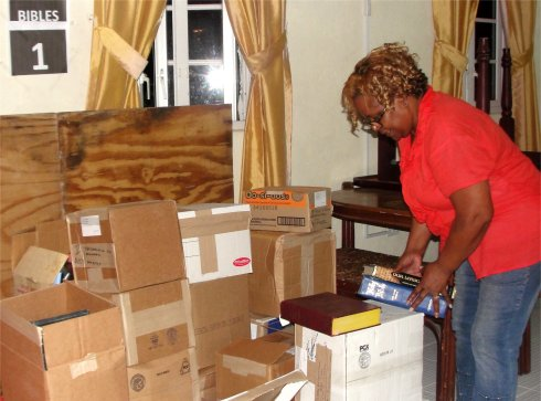 Love Packages container donated to Barbados by Eagles Nest Ministries