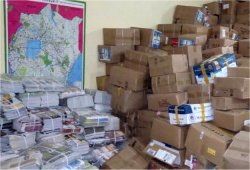 Love Packages donated to Africa by Eagles Nest Ministries aimed at