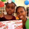 Make Jesus Smile shoebox distribution in Goniave