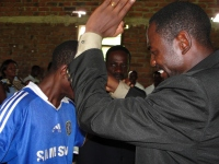 Pastor David ministering in Malawi during the recent KIMI training