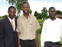 Seen here with Pastor David the Tanzania - Mbeya co-ordinator (middle) and Pastor Mango, left the Uluwa KIMI trainer,