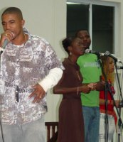 Hoszia, one of the nominee for new artiste of the year at Flame Awards 2006
