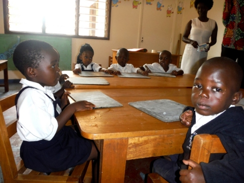 James at school thanks to the Project Hope Africa child sponsorship