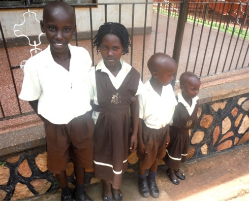 Charity at school due to the Project Hope Africa child sponsorship