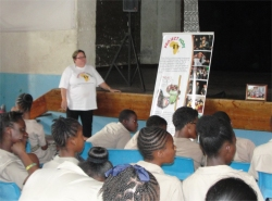 Project Hope Barbados Combermere school project sponsoring African children bringing hope to refugee street children child soldiers and abused girls