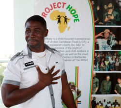 And he is passionate about Project Hope, seen here at the launch at Limegrove.