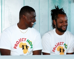 Shane and KB at the Project Hope Launch