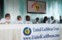 In the afternoon the production team moved up to the Executive suit of Limegrove for a press launch conference.