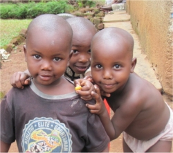 Africa child sponsorship child #8 with his friends
