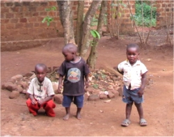Africa child sponsorship child #2 with his friends