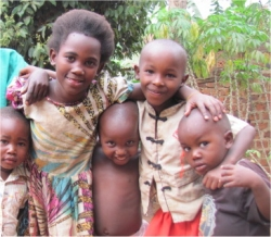 Africa child sponsorship child #4 with her friends
