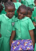 Children from the Christ Church girls school
