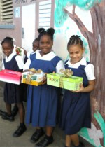 Students from Rowand Edwards school in Barbados