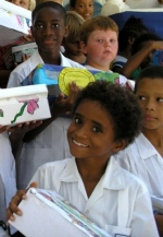 St Gabriels school  students invloved in the Make Jesus Smile Christmas project