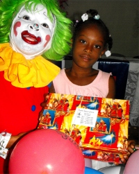 Annie the Clown in Haiti