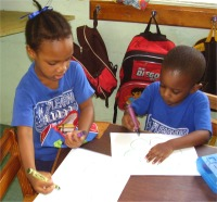 Thanks to the children of Learning Learning Ladder Day Nursery in Barbados who so creatively decorated their boxes.